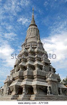 Shrine of King Ang Duong, Royal Palace, Phnom Penh, Cambodia.