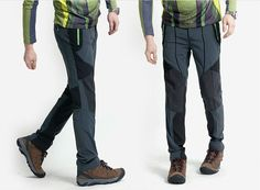 Coolmax Mens Hiking Trekking Cycling Pants climbing outdoor stretch trousers