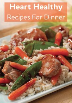 Szechuan BBQ Pork and Vegetables.This quick 30 minute recipe combines sweet and spicy Asian-influenced pork tenderloin with crunchy carrots and fresh snow peas Pork Recipes, Asian Recipes, Diet Recipes, Cooking Recipes, Chicken Recipes, Pork Meals, Asian Foods, Yummy Recipes, Heart Healthy Diet