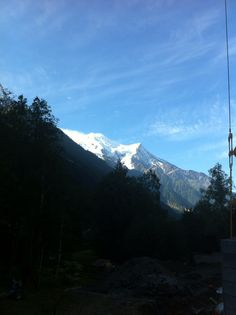 Mont-blanc mountain from my chalet in Chamonix