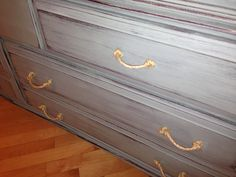 This dresser pairs Duck Egg Blue with rope handles.