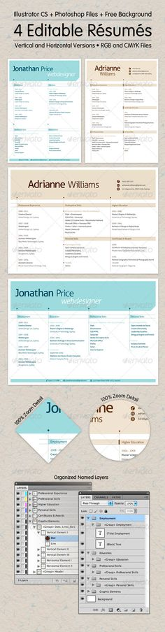Editable Resume Collection