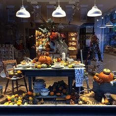 """2,888 Likes, 42 Comments - Emma Bridgewater (@emma_bridgewater) on Instagram: """"Our Marylebone store is in the spooky spirit with this new pumpkin window display! Head to our…"""""""