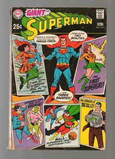 Sell one like this  Giant Superman (Vol.1) #217 Silver Age DC Comic 1969 GD Brainiac Supergirl