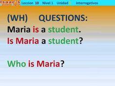 Curso de Ingles Leccion 10 interrogativos WH questions - YouTube
