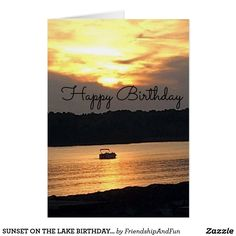 SUNSET ON THE LAKE BIRTHDAY CARD