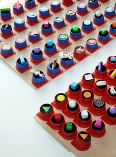 Use bottlecaps for matching games. Increase visual and tactual discrimination skills.