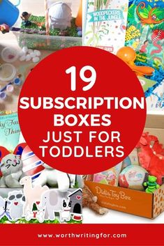 Toddler subscription boxes are one of the best gift ideas for little ones! And this carefully curated list of subscription boxes for toddlers (ages 1 to 3) is the perfect place to choose the best toddler crate for your child! Monthly activity boxes, craft boxes, and even some toddler book subscription boxes they will love! #toddlers #toddlersubscriptionbox #toddlergiftideas #toddlergifts Toddler Age, Toddler Books, Toddler Learning, Learning Toys, Toddler Gifts, Subscription Boxes For Girls, Book Subscription Box, Rainy Day Activities