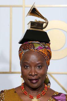 Angelique Kidjo Photos - The 58th GRAMMY Awards - Press Room - Zimbio