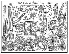 Tici Llama comes from Peru in South America. Llamas are very sure ...