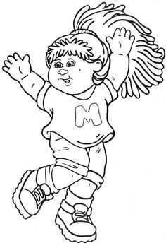 Cabbage Patch Kids Colouring Page 6 Cabbage Patch Kids Cabbage Patch Coloring Pages