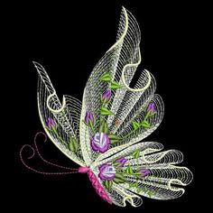 FLUTTERBY LUV #1 - 30 MACHINE EMBROIDERY DESIGNS (AZEB) in Crafts, Embroidery, Design CDs | eBay