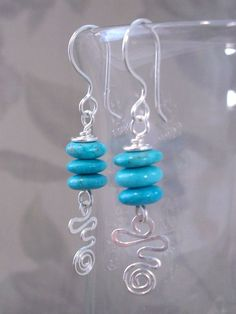 Sterling Silver Wirework Earrings - how to do the wirework part
