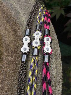 Brazalete de paracord de cadena de bicicleta