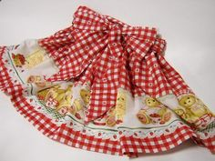 Red & white checks, with a border print and big bow.  $27.00  SOLD