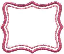 Frame 8 (applique). Border element to use stand-alone or as accents to other designs or monograms.