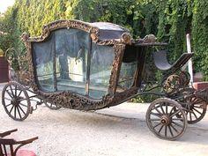 A beautiful pre-restoration hearse.