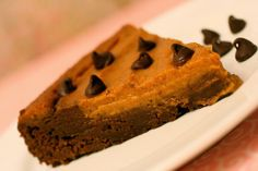 Pumpkin Pie Brownie- with no eggs! I'm saving this for Thanks Giving.