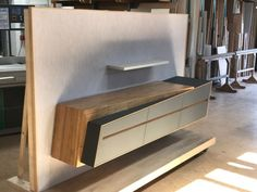 Sideboard - unit design With Wardrobe Tv Unit Furniture Design, Tv Unit Interior Design, Tv Furniture, Tv Unit Decor, Tv Wall Decor, Tv Cabinet Design, Tv Wall Design, Muebles Home, Modern Tv Wall Units