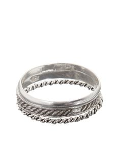 Sterling Silver 3 x Bands Sterling Silver Stacking Ring Set | Silver | Accessorize
