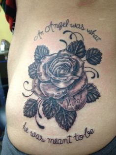 Rose tattoo in memorial of my brother
