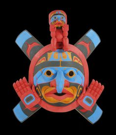 Lelooska Sun and Moon Mask   32 x 28 in.  Carving  $10000   By - Richard Hunt