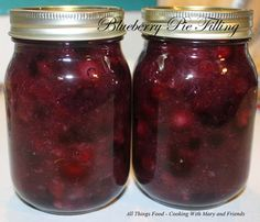 Blueberry Pie Filling - Cooking With Mary and Friends