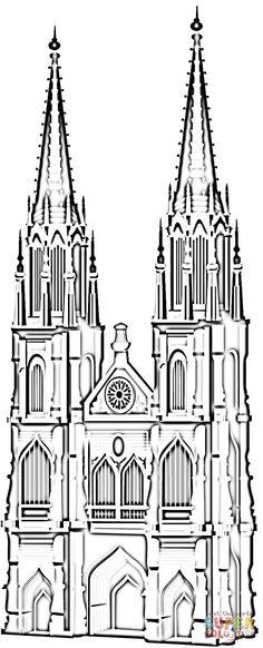 kölner dom zum ausmalen   Ausmalbild: Der Kölner Dom   Ausmalbilder kostenlos zum ausdrucken