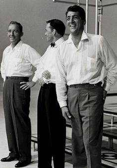 Bing Crosby, Frank Sinatra, and Dean Martin in 1966 - They had style!