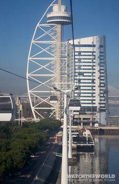 Site of the Expo 98 in Lisbon with the elevators Lisboa Portugal b4e9c66c7e8ad
