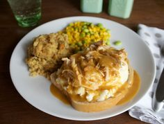 This recipe for slow cooker chicken and gravy was so easy! All I had to do when I got home was make the mashed potatoes, and heat up some corn.