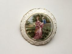 Vintage Coalport China brooch - porcelain- - made in England by ElsiesVintageEmporiu on Etsy Vintage Jewellery, Vintage Brooches, Ceramic Jewelry, Very Lovely, Birthday Photos, Flower Brooch, China Porcelain, All Pictures, Wedding Accessories
