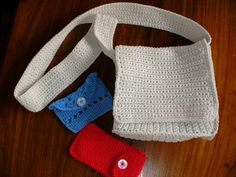 Bags and purses. Crochet.
