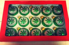 5 marijuana Christmas ornaments