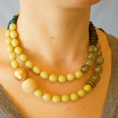 Double strand beaded Necklace | percent