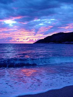 ~~THE MOST BEAUTIFUL SUNSET EVER…….. ~ blue beachscape, Dhërmi, Albania by ChR1sTare~~