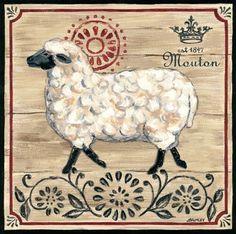 Vintage French Farm Sheep (Jennifer Brinley)