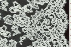 Alençon Lace 51-inch. Ivory   Made in France.