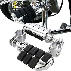 """Amazon.com: 2X Chrome Durable Dually Foot Pegs Footpegs Footrest 1 1/4"""" Clamp Fit Harley Highway Metric: http://9nl.de/5c9w"""
