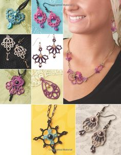Tatted Jewelry: 11 Stunning Designs Including Necklaces, Earrings and Pendants: Marilee Rockley: 9781596354203: Amazon.com: Books