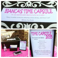 A lovely Time Capsule at my baby naming ceremony to be opened on her 21st birthday.