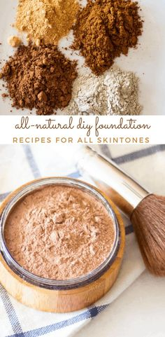 Diy Foundation, Natural Foundation, Powder Foundation, All Natural Makeup, All Natural Skin Care, Natural Health, Natural Hair, Essential Oils For Skin, Homemade Soap Recipes