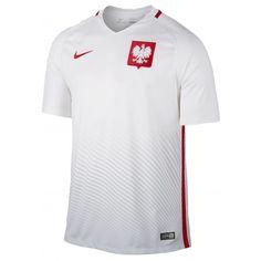 Maillot Pologne  2016/2017  Officiel EURO 2016 Domicile. Flocages Personnalisés Disponibles.