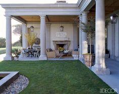 New Outdoor Patio Fireplace Columns Ideas Outdoor Rooms, Outdoor Living, Outdoor Decor, Outdoor Patios, Outdoor Kitchens, Outdoor Art, Outdoor Seating, Malibu Homes, Villa