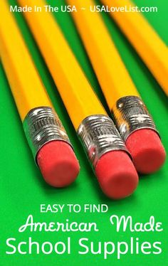 School supplies  Made in USA