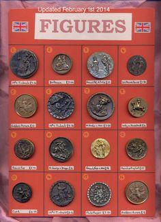 Antique figural buttons.