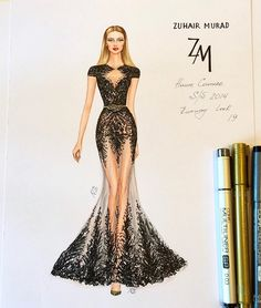 New Ideas For Embroidery Fashion Illustration Beautiful Dress Design Drawing, Dress Design Sketches, Fashion Design Sketchbook, Dress Drawing, Fashion Design Drawings, Fashion Sketches, Drawing Art, Drawing Ideas, Drawing Faces