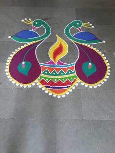 peacock rangoli 2014