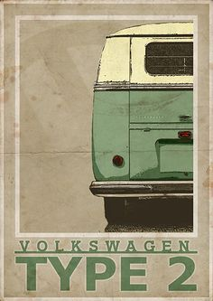 Volkswagen Type 2 Split Screen Van / Bus rear  Vintage door 3ftDeep