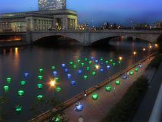 'light drift' interactive RFID lighting installation by howeler + yoon architecture  philadephia, U.S.A 2010